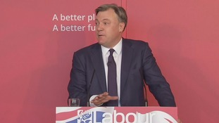 Shadow chancellor Ed Balls speaks in Swindon today.