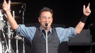 Bruce Springsteen was cut off while playing with Paul McCartney