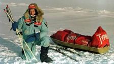 David Hempleman-Adams at Resolute Bay on the eve of his first solo expedition to the North Pole.