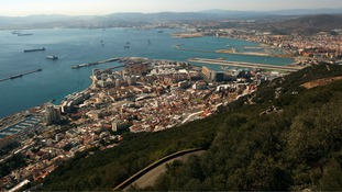 A general view of the British overseas territory of Gibraltar