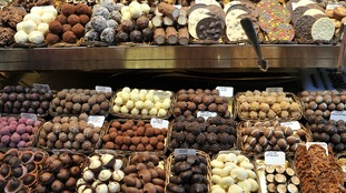 Chocolate at a market stall