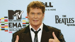 David Hasselhoff at the MTV Europe Awards
