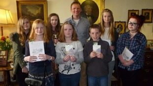 The winners of the Wordsworth Young Poets Competition with Christopher Wordsworth