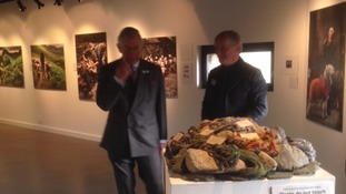 Prince Charles spent some time in the Rheged Centre