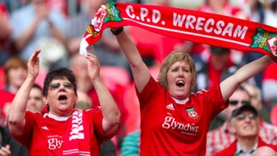 fans cheering on Wrexham
