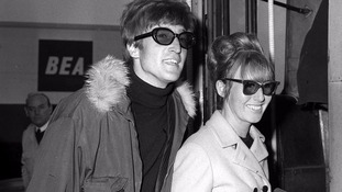 John Lennon with his first wife Cynthia