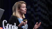 Marissa Mayer during her time at Google unveiling 'Google Instant'