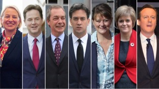 Seven political party leaders