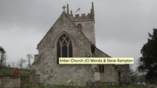 St Giles church in Imber, Wiltshire