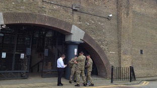 Olympics: The first soldiers arrive at the former tobacco docks where some will be housed during the Olympics