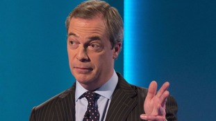 Nigel Farage during last night's televised debate.