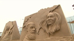 Sand sculpture event celebrates 10th anniversary
