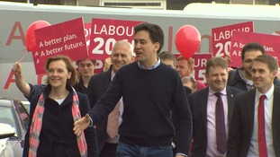 Ed Miliband meeting with activists in Blackpool today.