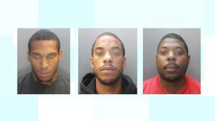 Three men have been jailed for attacking an 80-year-old woman.