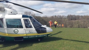 The GNAA team with the casualty