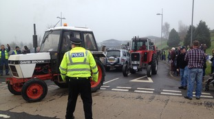 Around 270 tractors are taking part in the run