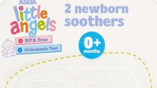 Little Angels 2 Newborn Soothers 0+ Months