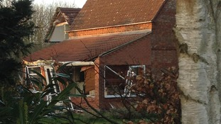 House damaged by explosion