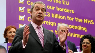 Nigel Farage welcomed the defection of Mike Whitehead from the Conservatives.