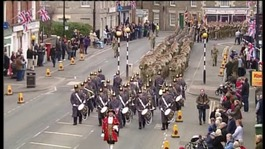 3rd Battalion The Yorkshire Regiment marching through warminster