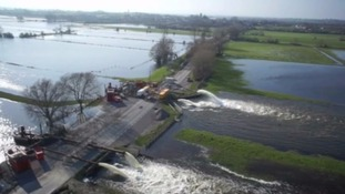 The Somerset Levels was badly flooded last winter.