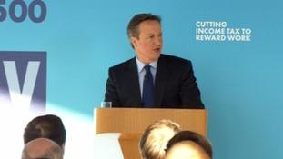 David Cameron's speech focused on economic policy.