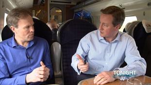 Tom Bradby with David Cameron