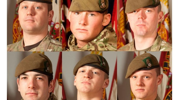 Still of six soldiers killed in Aghan. March 6th 2012
