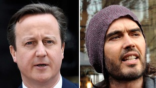 David Cameron beat Russell Brand into second place.