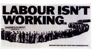 Labour's new poster is a take on an idea by the Tories more than 30 years ago
