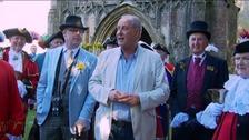 Mells Daffodil Festival was opened by ITV weatherman Bob Crampton