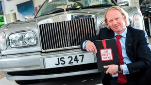 JCT600's Roger Perkins with Sir Jimmy Savile's rare Rolls-Royce