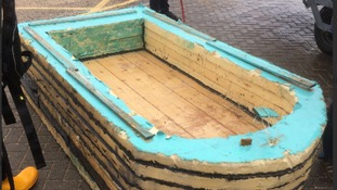 Men rescued from £9 homemade boat