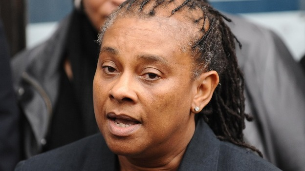 Doreen Lawrence speaking in January