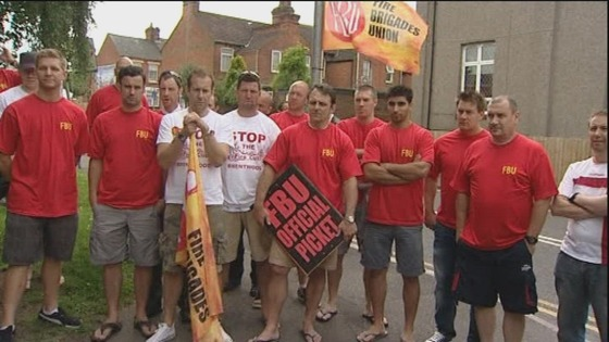 Essex, firefighters, strike
