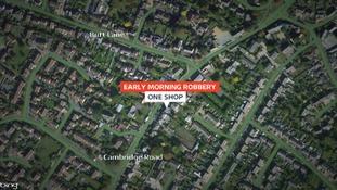 Location of robbery in Milton near Cambridge.