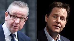 Clegg mocks 'absurd' Tory colleague Michael Gove