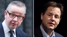 Michael Gove and Nick Clegg frequently clashed while in office together.