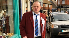 Al Murray will hand in his nomination papers today at Thanet District Council's offices in Margate, Kent
