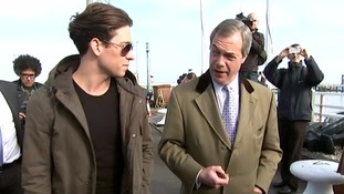 Joey Essex tells Nigel Farage 'I love your coat'