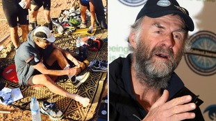 Sir Ranulph Fiennes tackles 50-degree heat in gruelling six-day Marathon des Sables