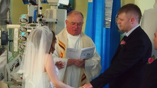 Bristol couple marry at son's hospital bedside