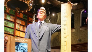 A model of Robert Wadlow, the tallest human being that ever lived