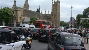 Cabs stand still in protest