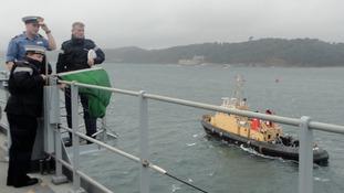 HMS Bulwark sets sail