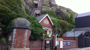 Funicular railway in Hastings