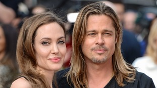 Angelina Jolie and Bradd Pitt