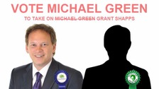 A screenshot of the Vote Michael Green website
