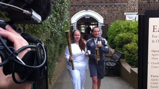 Daisy Shepherd with her torch