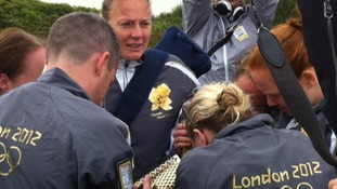 Huddle to light the torch